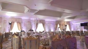 Decorazione di nozze, barra di caramella, decorazioni, dettagli stock footage