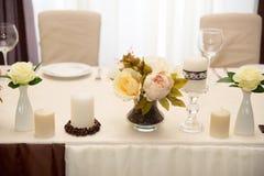 Decorazione di nozze, caffè di colore Immagine Stock