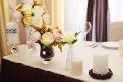 Decorazione di nozze, caffè di colore Fotografie Stock