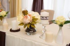 Decorazione di nozze, caffè di colore Immagini Stock