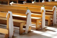 Decorazione di nozze della chiesa Fotografia Stock Libera da Diritti