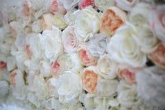 Decorazione di nozze, fondo di giardinaggio floreale con variet? di immagine stock