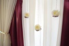 Decorazione di nozze, Marsala di colore Immagini Stock Libere da Diritti