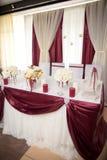 Decorazione di nozze, Marsala di colore Fotografie Stock