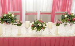 Decorazione di nozze nel colore rosa Fotografia Stock Libera da Diritti