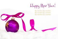 Decorazione di nuovo anno felice Fotografia Stock Libera da Diritti