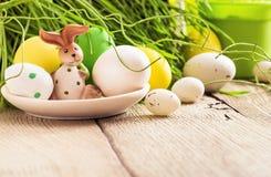 Decorazione di Pasqua con coniglio Immagine Stock Libera da Diritti