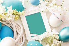 Decorazione di Pasqua con la struttura Fotografie Stock Libere da Diritti