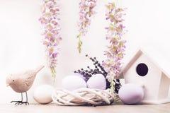 Decorazione di Pasqua con le uova Immagine Stock
