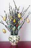 Decorazione di Pasqua dell'albero di salice Fotografia Stock Libera da Diritti