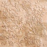 Decorazione di pietra della farfalla Fotografie Stock