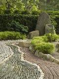 Decorazione di pietra in giardino giapponese fotografia stock libera da diritti