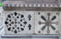 Decorazione di pietra (mosaico) Fotografie Stock