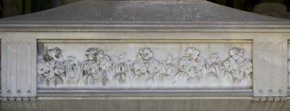 Decorazione di pietra (ornamento floreale) Fotografie Stock Libere da Diritti