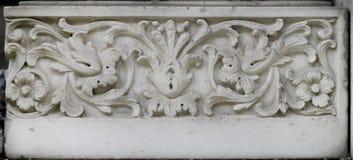 Decorazione di pietra (ornamento floreale) Immagini Stock