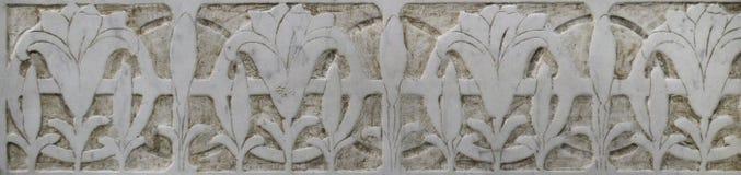 Decorazione di pietra (ornamento floreale) Fotografia Stock Libera da Diritti