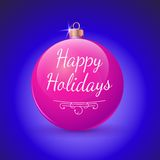 Decorazione di rosso della palla di Natale. Immagine Stock