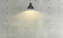Decorazione di stile del sottotetto del muro di cemento con luce di sotto, fondo, tem Immagine Stock Libera da Diritti