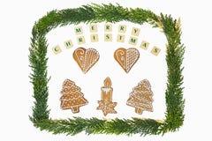 Decorazione di tema di Natale Immagini Stock Libere da Diritti