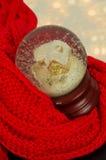Decorazione di vetro di Natale del globo della neve Fotografia Stock