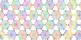 Decorazione digitale multicolore delle mattonelle della parete per noioso interno me, progettazione delle mattonelle, arte della  illustrazione vettoriale