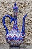 Decorazione disegnata a mano del lanciatore del vino del ricordo decorativo Fotografie Stock