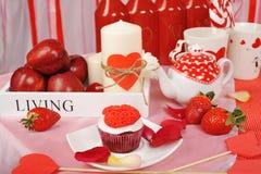 Decorazione dolce del biglietto di S. Valentino immagine stock