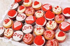 Decorazione dolce del biglietto di S. Valentino fotografia stock