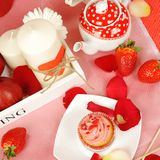 Decorazione dolce del biglietto di S. Valentino immagini stock