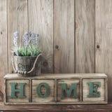Decorazione domestica di legno immagini stock