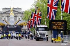 Decorazione e preparazione di giubileo di diamante della regina Fotografia Stock Libera da Diritti