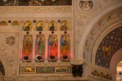 Decorazione ed icone della cattedrale Fotografie Stock