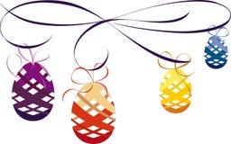 Decorazione elegante delle uova di Pasqua Fotografie Stock