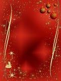 Decorazione elegante rossa e dorata di natale Fotografie Stock Libere da Diritti