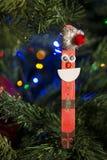 Decorazione fatta a mano di Natale sull'albero Fotografia Stock