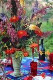 Decorazione festiva della tabella Fotografia Stock Libera da Diritti