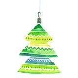 Decorazione festiva elegante dipinta a mano dell'albero della bolla Immagini Stock Libere da Diritti