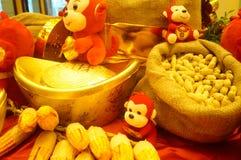 Decorazione festiva tradizionale cinese di festival di molla Fotografie Stock