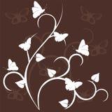 Decorazione floreale con batterfly Immagine Stock Libera da Diritti