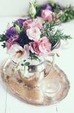 Decorazione floreale elegante Immagini Stock Libere da Diritti
