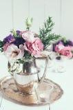 Decorazione floreale elegante Fotografie Stock Libere da Diritti