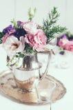Decorazione floreale elegante Fotografia Stock