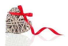 Decorazione a forma di cuore fatta di legno, Immagini Stock Libere da Diritti