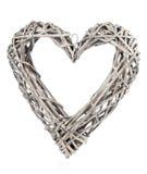 Decorazione a forma di cuore fatta di legno, Fotografie Stock Libere da Diritti