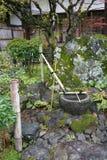 Decorazione giapponese del giardino di zen Fotografia Stock Libera da Diritti
