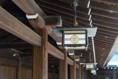 Decorazione giapponese della lampada a Meiji Jingu Shrine, Harajuku, Giappone Fotografie Stock