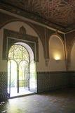 Decorazione graziosa e delicata, alcazar di Siviglia. Fotografie Stock Libere da Diritti