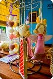 Decorazione Handmade di angelo Immagine Stock