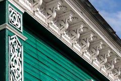 Decorazione intagliata della parete Fotografia Stock Libera da Diritti