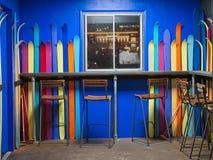 Decorazione interna della barra variopinta del cocktail Fotografia Stock Libera da Diritti